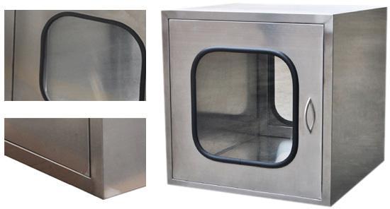 内嵌式传递窗也叫平板门传递窗,主要用于洁净室与洁净室,非洁净室与洁净室之间物品的传递。