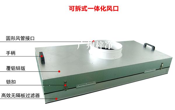 可更换一体化高效过滤器产品部件介绍