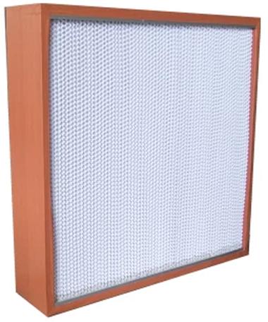 木框纸隔板高效过滤器框架采用优质木材制作