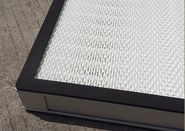 高效送风口高效过滤器(无隔板)产品特点:专利制造技术确保V形通道的有效利用。