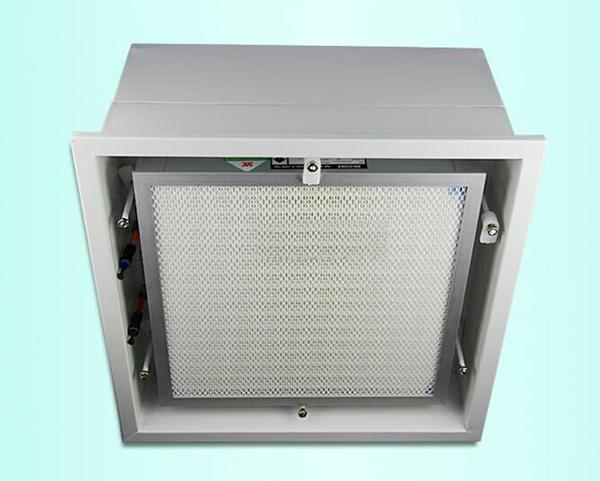 高效送风口高效过滤器(液槽式)密封性能好,安装方便,效率高,阻力低,运行成本低。