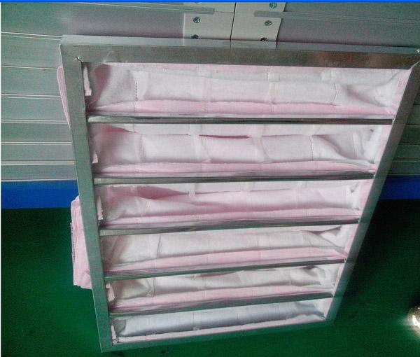 F7级中效袋式过滤器主要捕集1-5um尘埃粒子
